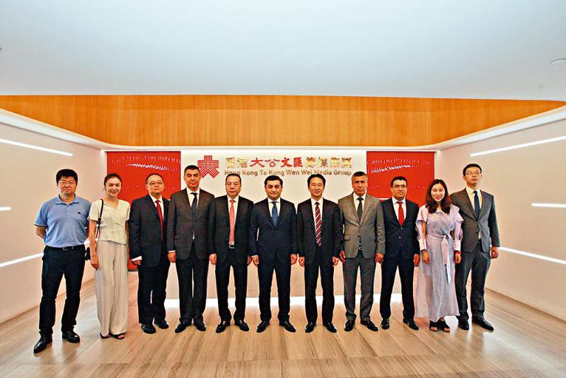 图片新闻\乌兹驻华大使到访大文集团