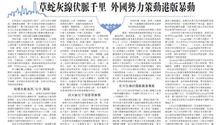 龚之平:草蛇灰线伏脉千里 外国势力策动港版暴动