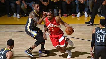 猛龙4-2勇士首夺NBA总冠军 莱昂纳德当选FMVP!