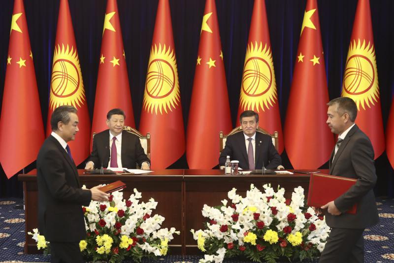 习近平中亚行\习近平:中吉战略对接 扩经贸投资
