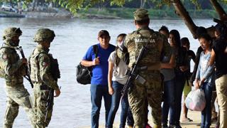 ?阻中美洲难民 墨西哥拘近800人