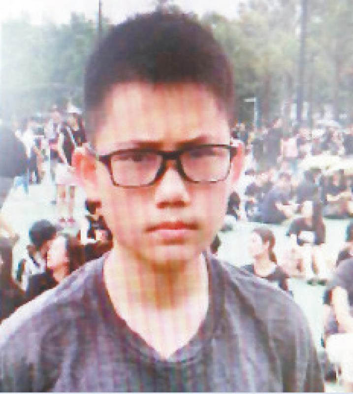 曾着黑衫出席集会 12岁男童失踪数日