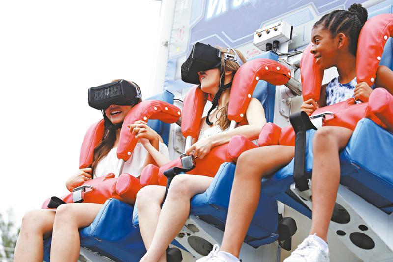 海园推VR跳楼机 边尖叫边学STEM