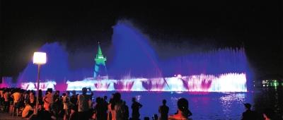 郑州绿博园:绿博之夜点燃夏日激情