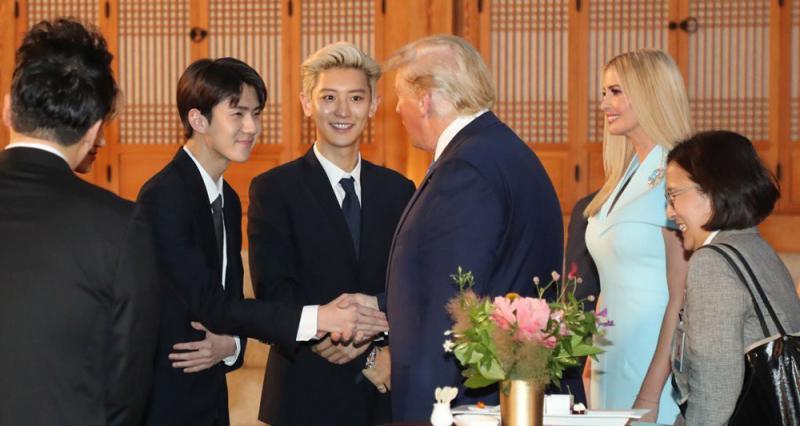 """?EXO及高球選手出席 文在寅投""""特""""所好"""