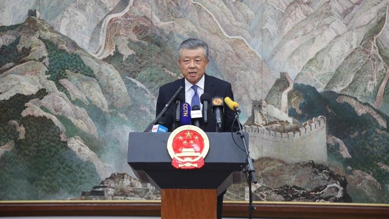 驻英大使:《中英联合声明》没有任何条款给予英方插手香港事务的权利