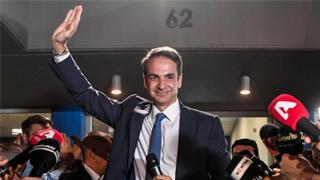 米佐塔基斯宣誓就任希腊总理 表示将致力于深化改革