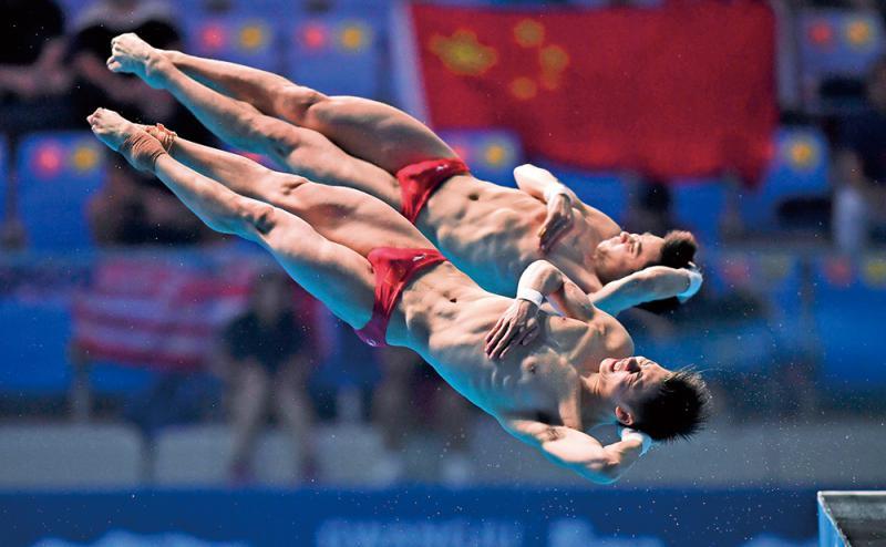 ?游泳世锦赛\中国跳水夺双人台板双金
