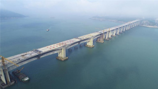 离台湾最近的平潭跨海大桥合龙 未来可接京台高铁