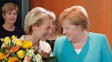 德国防长执掌欧盟 对华态度强硬引发关注