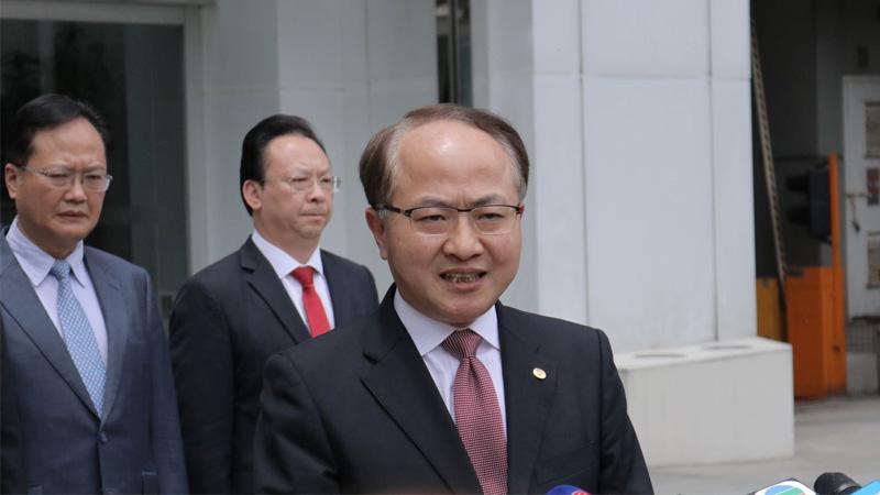 王志民:强烈谴责不法暴徒行为
