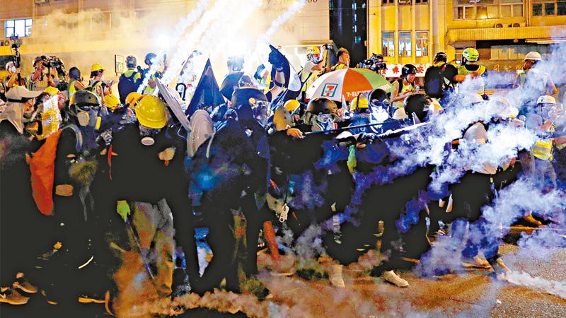 向玩残香港的极端势力说不!