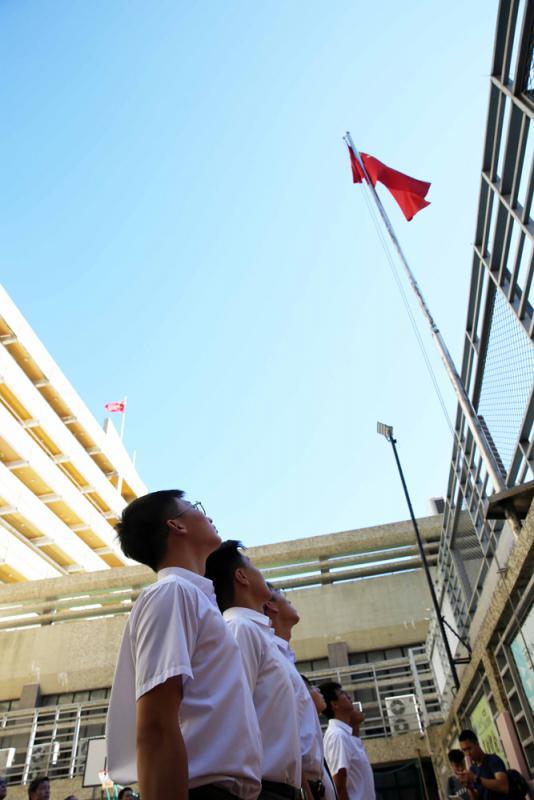 ?培侨中学暑假升旗礼 传递爱国正能量