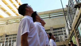 ?培僑中學暑假升旗禮 傳遞愛國正能量