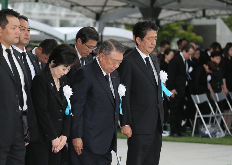 """广岛""""核爆日""""74周年 安倍拒加禁核条约"""