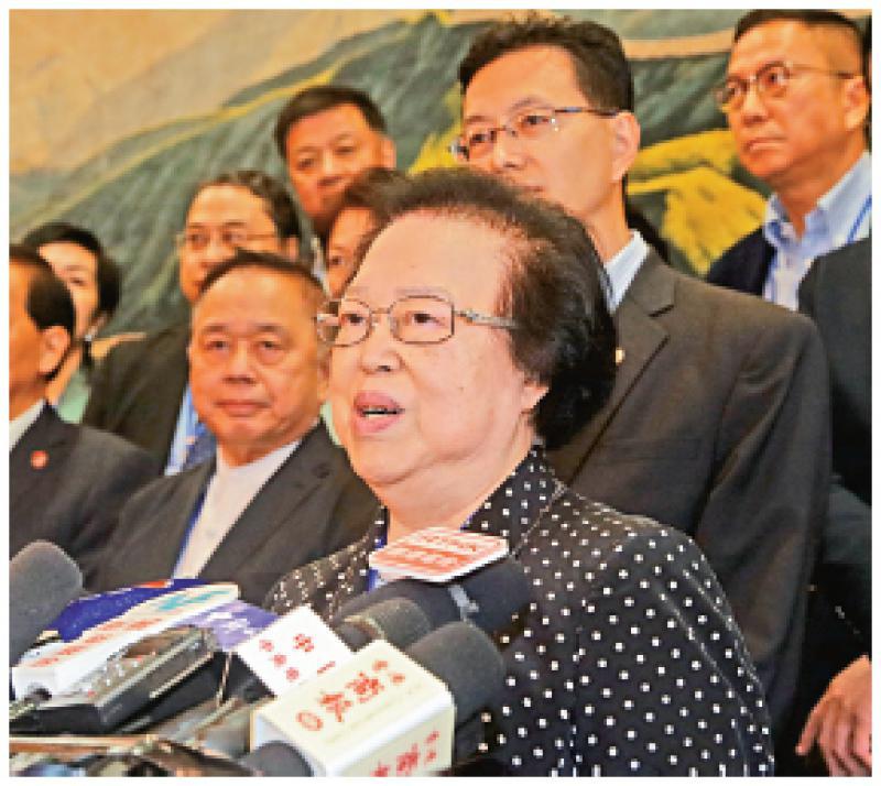 ?谭惠珠:中央坚定支持特首和警队