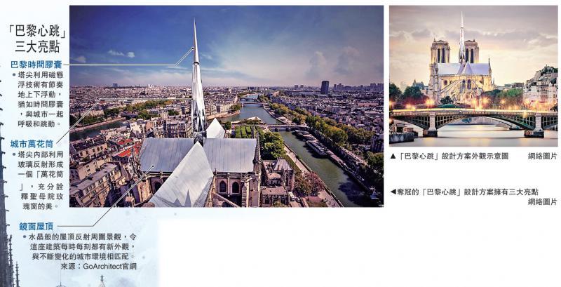 圣母院塔尖设计 中国建筑师夺冠