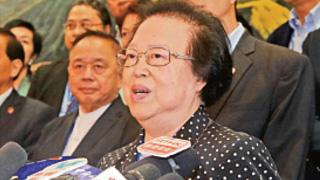 ?譚惠珠:中央堅定支持特首和警隊