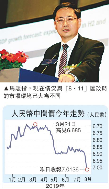 ?马骏:人币汇率保持基本稳定底气更足