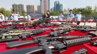 中国154个城市集中销毁非法枪爆物品