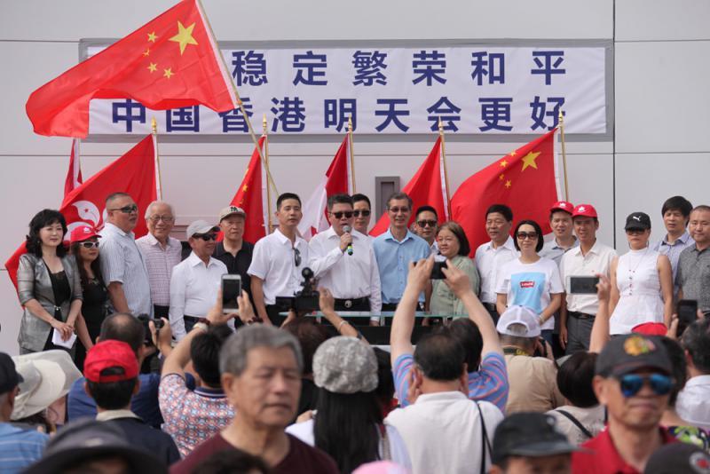 """?""""台独""""分子挺暴力示威 打""""香港牌""""为选举造势"""