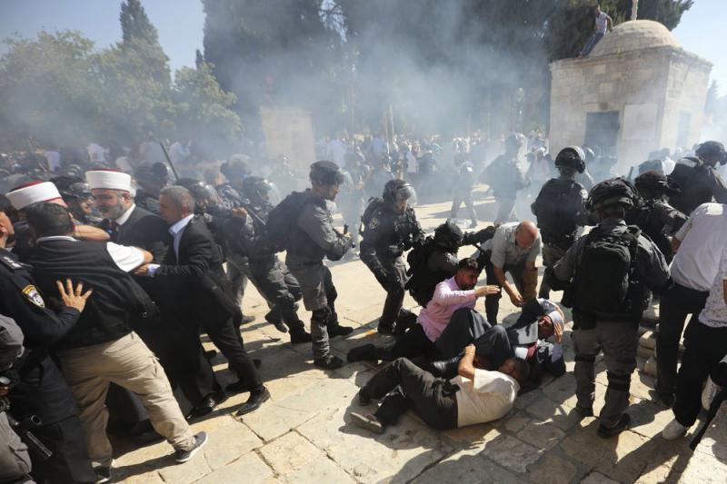 巴以爆发衝突 致65人受伤