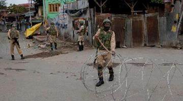 印度被曝在印控克什米尔拘留至少4000人 监狱已满员