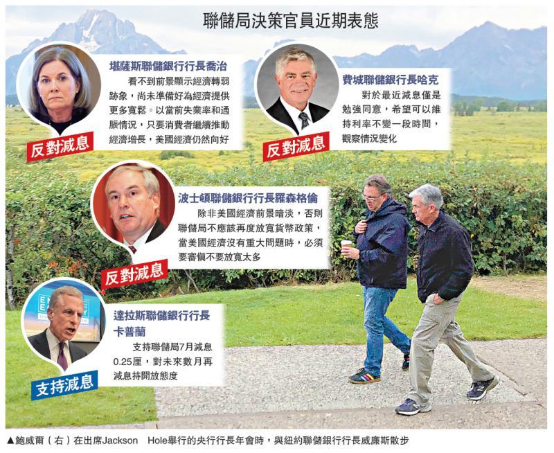 国际经济/鲍威尔未明确暗示下月减息/大公报记者李耀华 郑芸央