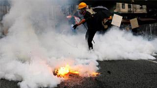 ?元朗区议会发正义之声 率先通过止暴制乱动议