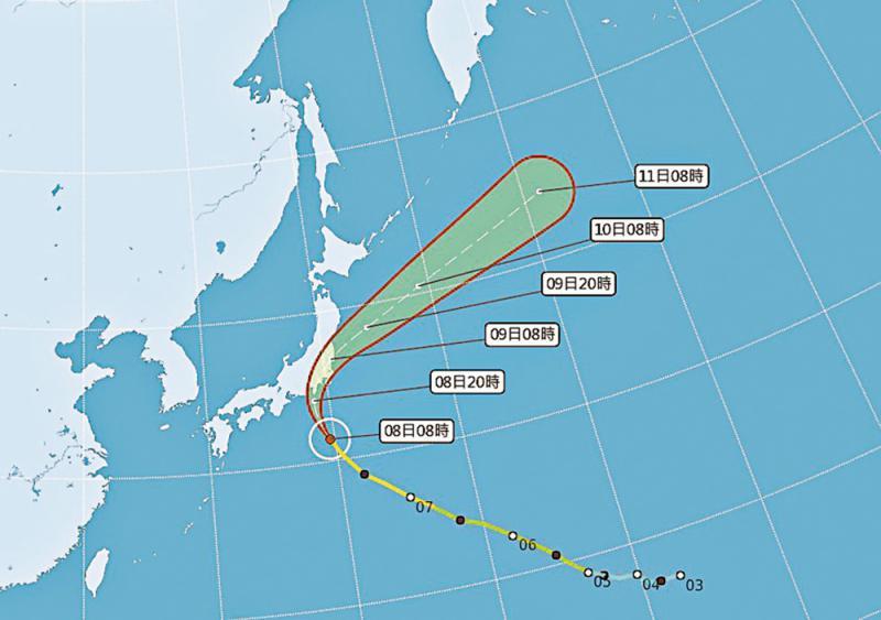 """?颱风""""法茜""""直扑日本 关东豪雨强风恐创纪录"""