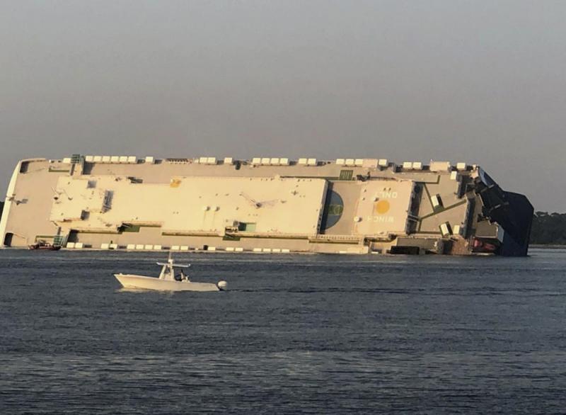 ?韩运输船美海域倾覆 4人失踪