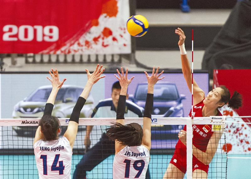 中国女排世盃开门红