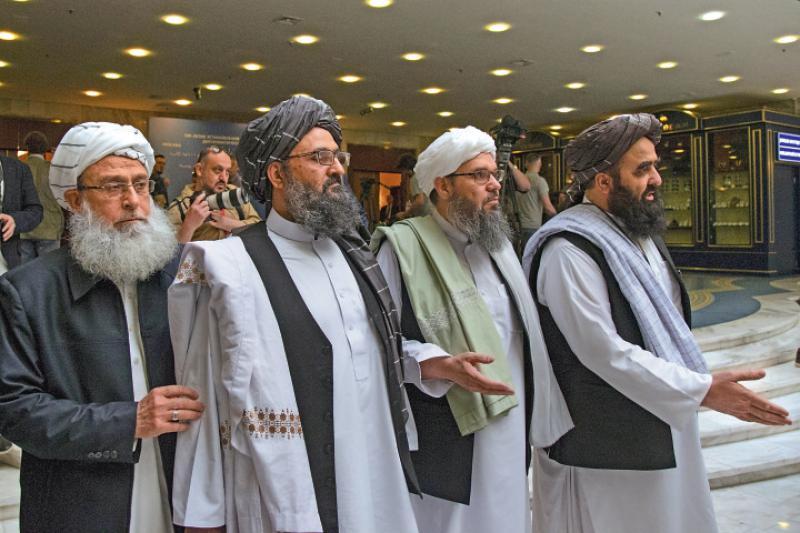 ?与美谈崩 塔利班代表团访俄