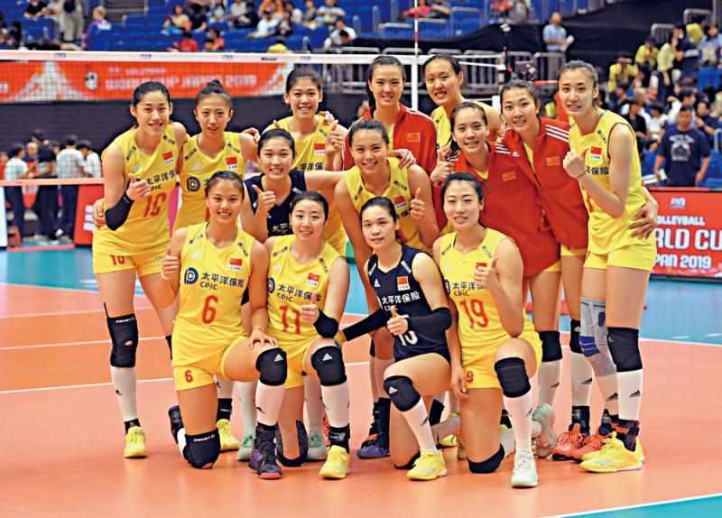 ?中国女排取世界盃连捷