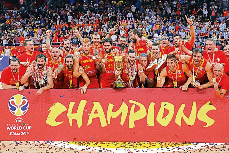 ?西班牙男篮再捧世界盃
