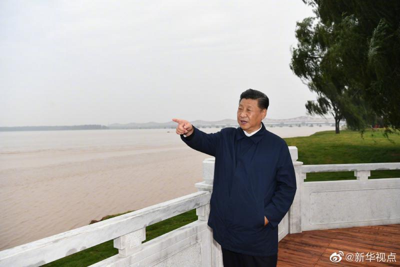 ?考察黄河治理 促高质量发展