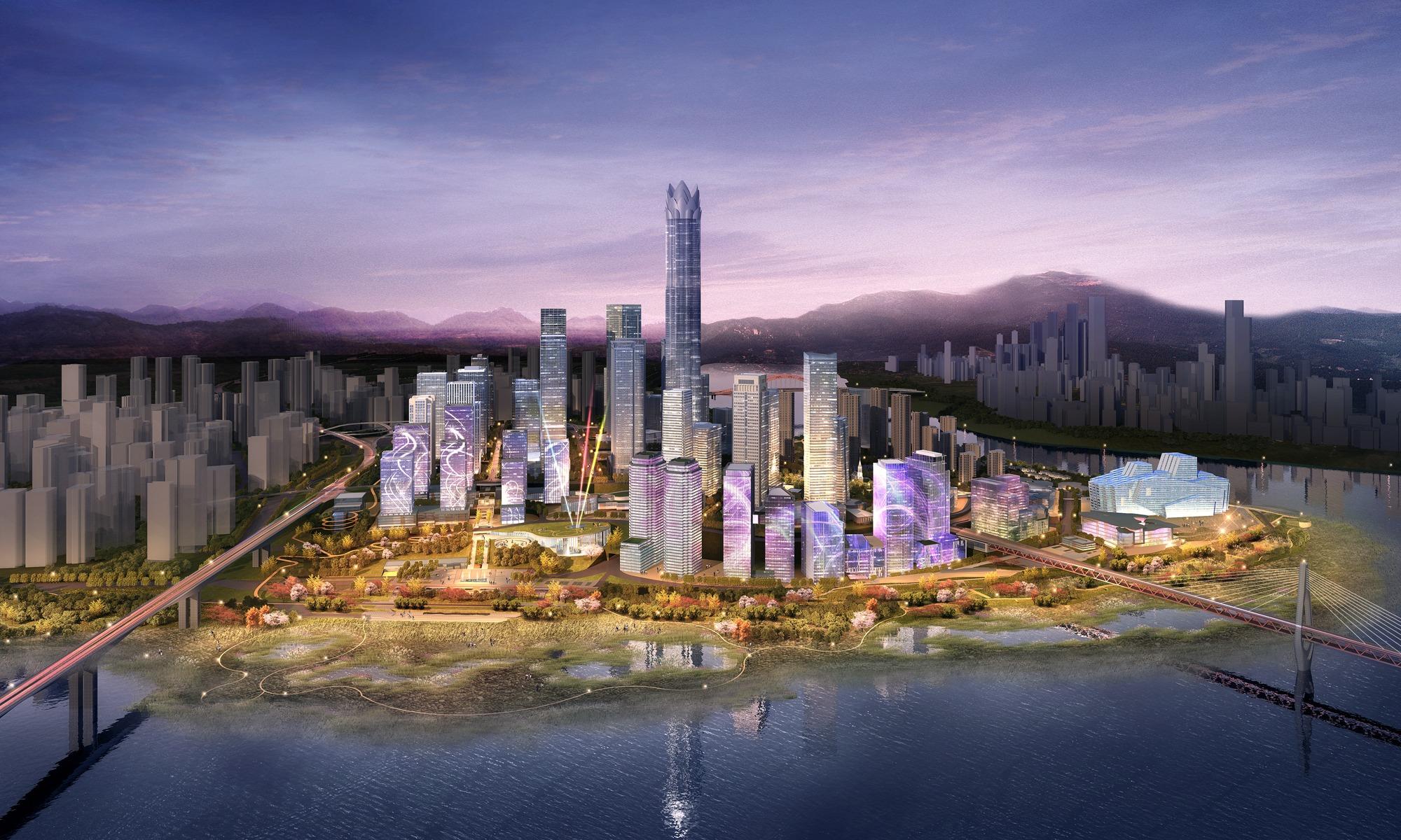 重庆江北区全年集中开工五十项目 总投资近六百亿
