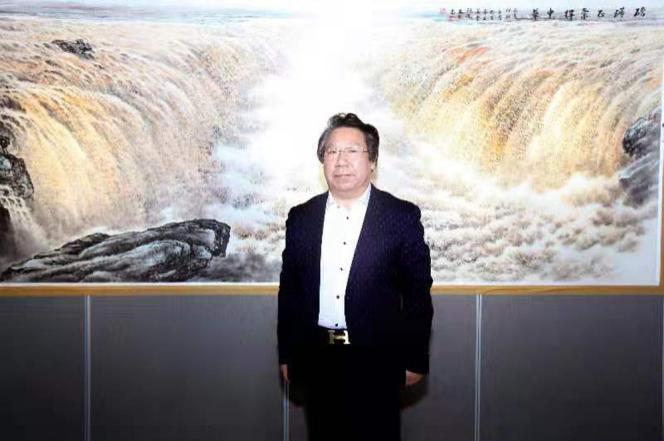 中国北派山水画名家石砚洗艺术赏析