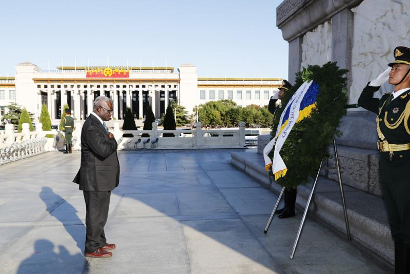 所羅門總理訪華 中方願深化合作