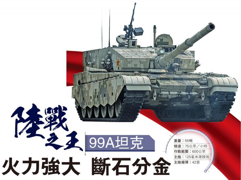 陆战之王 99A坦克\火力强大 断石分金