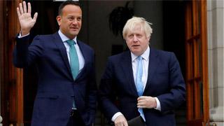 """?约翰逊与爱总理进行""""最后谈判"""""""