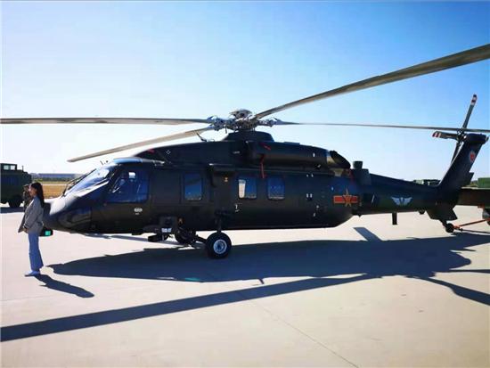 亚洲最大直升机展在津开幕 国产直-20首次亮相国际航展
