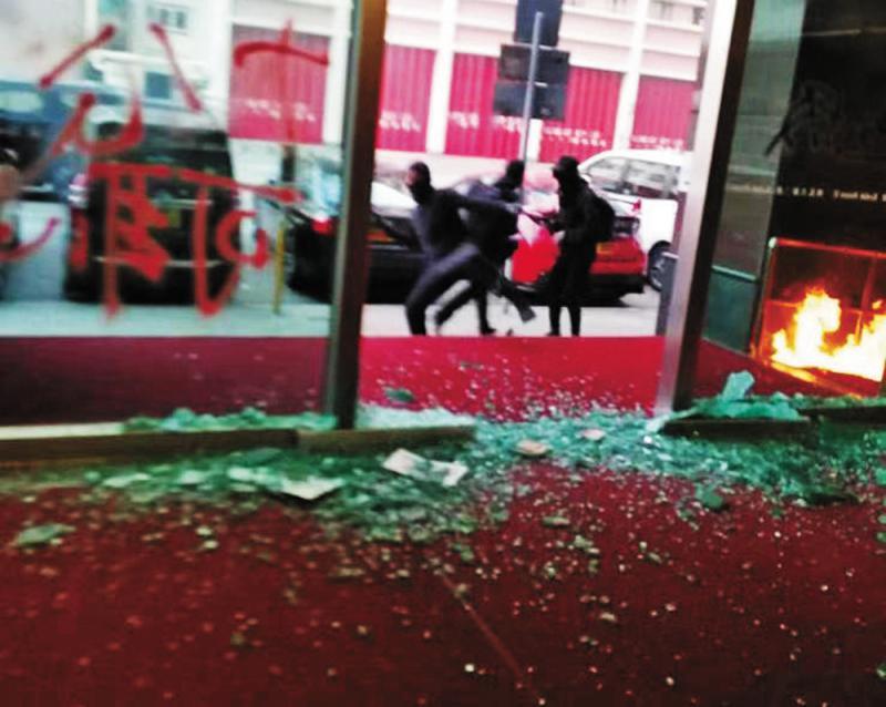暴徒针对大公报 汽油弹袭柯达大厦
