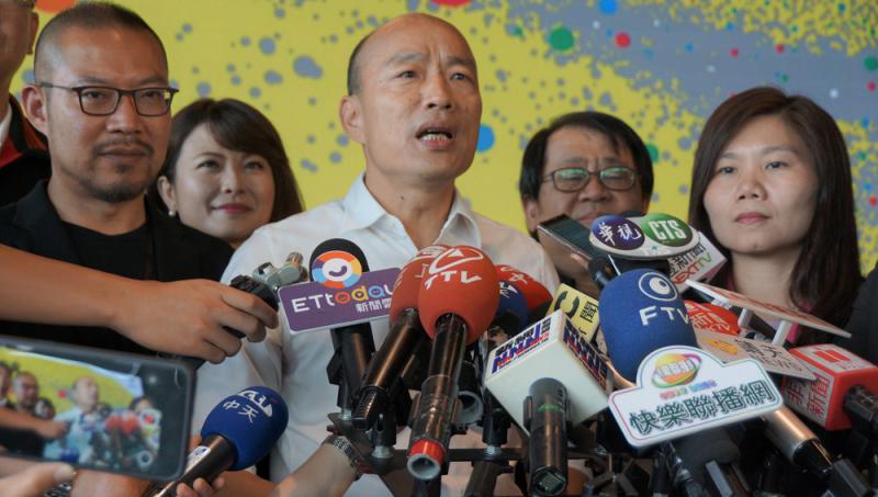 韩国瑜下战书 邀蔡英文辩两岸政策