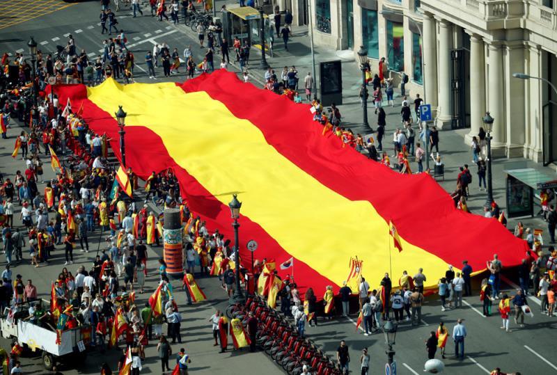西班牙国庆日\万人上街反加独