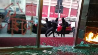 ?暴徒针对大公报掷汽油弹 重案组跟进
