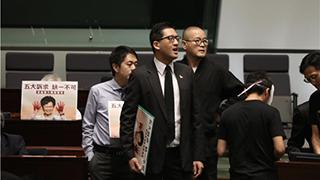 施政报告|纵暴派议员叫嚣  会议被迫暂停