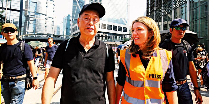 汉奸黎借外媒颠倒是非煽暴 抹黑香港人权法治