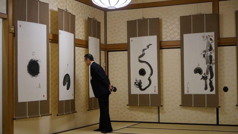 """中国禅画展""""雪山圆相""""在东京举行"""