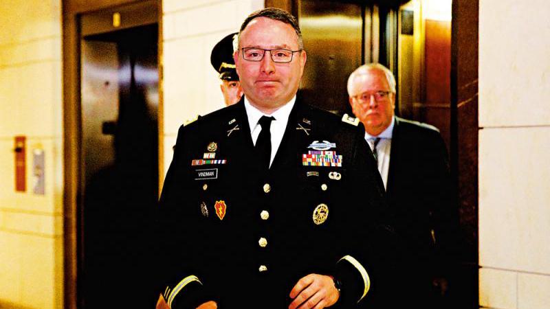 美國安會軍官作證重創特朗普 指白宮通話紀錄故意省略關鍵詞